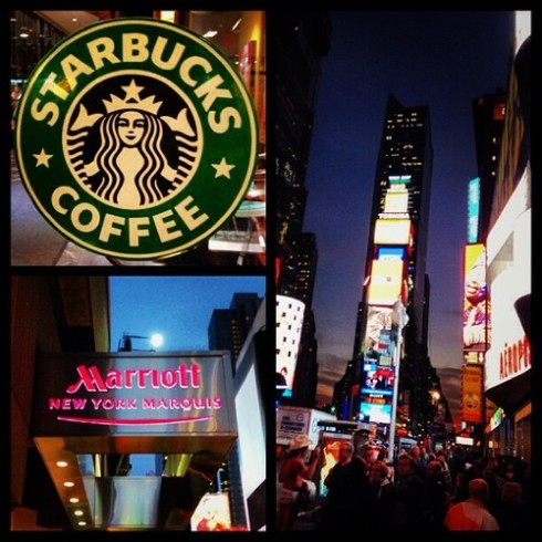 45th and Broadway Starbucks Marriott Marquis