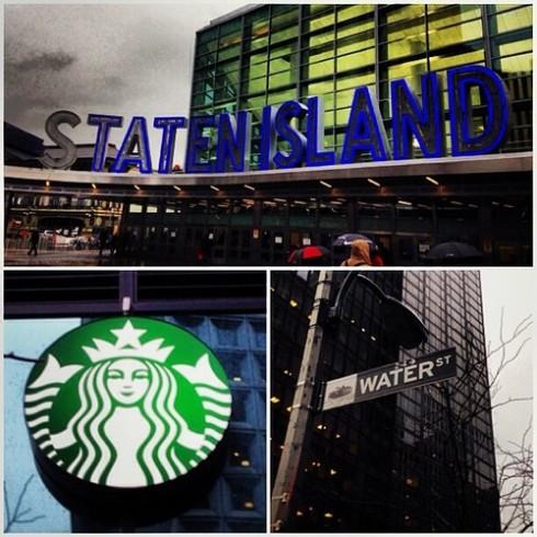 Water and Whitehall Starbucks