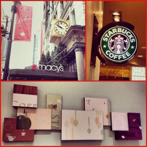 34th and Broadway Starbucks Macy's 3rd Floor
