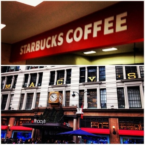34th and Broadway Starbucks Macy's 5th Floor