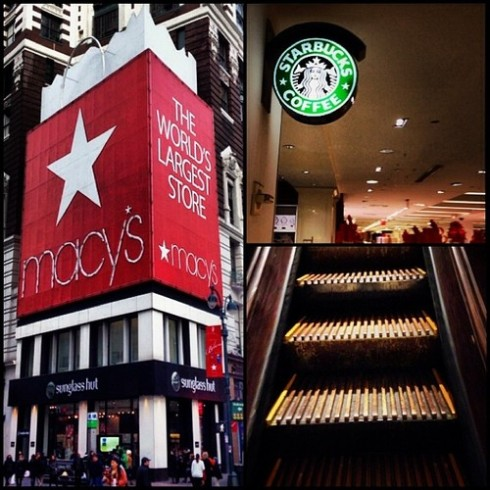 34th and Broadway Starbucks Macy's 6th Floor