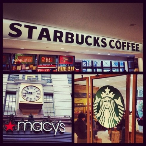 34th and Broadway Starbucks Macy's Balcony