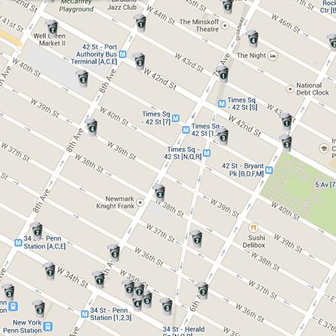 NYC Starbucks Map